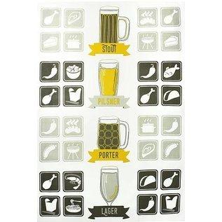 """MUkitchen MuKitchen Designer Cotton Towel 20"""" x 30"""" Craft Beer"""