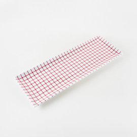 One Hundred 80 Degrees One Hundred 80 Degrees Red Gingham Sandwich Tray Melamine 7.5x21 inch