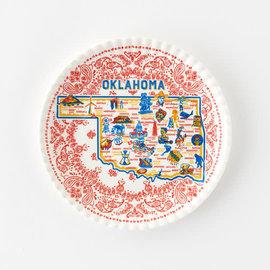 "One Hundred 80 Degrees One Hundred 80 Degrees Oklahoma Melamine ""Paper"" Plates set of 4"