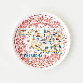 """One Hundred 80 Degrees One Hundred 80 Degrees Oklahoma Melamine """"Paper"""" Platter 16 """""""