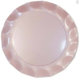 Sophistiplate Sophistiplate Petalo Charger Plates Pearly Pink CLOSEOUT/ NO RETURN