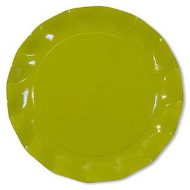 Sophistiplate Sophistiplate Petalo Charger Plates Lime Green DISCONTINUED