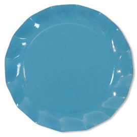 Sophistiplate Sophistiplate Petalo Charger Plates Turquoise DISCONTINUED