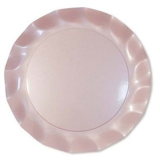 Sophistiplate Sophistiplate Petalo Salad Dessert Plates Pearly Pink