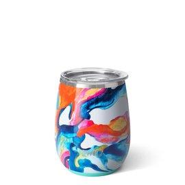 Swig Swig Stemless Wine Cup 14 oz Color Swirl