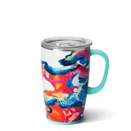 Swig Swig Stemless Travel Mug 18 oz Color Swirl