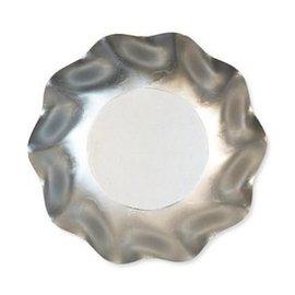 Sophistiplate Sophistiplate Petalo Appetizer/Dessert Bowls Satin Silver