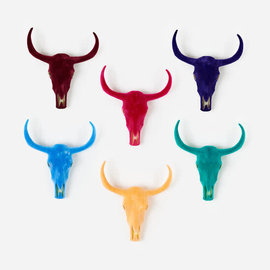 One Hundred 80 Degrees One Hundred 80 Degrees Flocked Longhorn Skull Wall Mount 23 or 27 inch Assorted SOLD INDIVIDUALLY