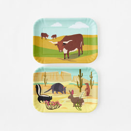One Hundred 80 Degrees One Hundred 80 Degrees Longhorn Melamine Tray 9x12 inch Assorted SOLD INDIVIDUALLY