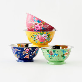 One Hundred 80 Degrees One Hundred 80 Degrees Hand Painted Floral Colander Assorted SOLD INDIVIDUALLY hand wash only
