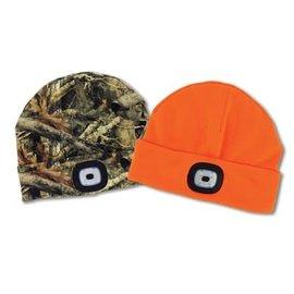 DM Merchandising Inc DM Merchandising Night Scope Sportsman Rechargeable LED Beanie Orange