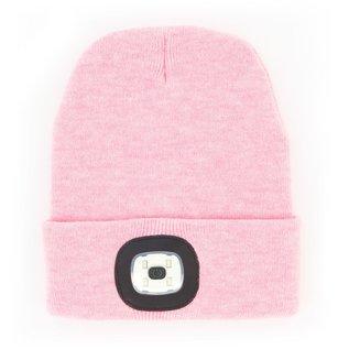 DM Merchandising Inc DM Merchandising Night Scope Brightside Rechargeable LED Beanie Heathered Pastel