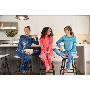 DM Merchandising Inc DM Merchandising Hello Mello Dye's the Limit Lounge Pant Aqua S/M
