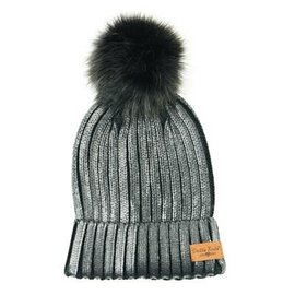 DM Merchandising Inc DM Merchandising Britt's Knits Glacier Knit Pom Hat Black