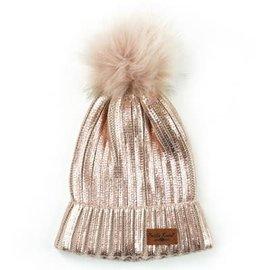 DM Merchandising Inc DM Merchandising Britt's Knits Glacier Knit Pom Hat Blush