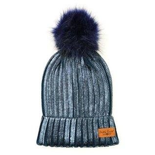 DM Merchandising Inc DM Merchandising Britt's Knits Glacier Knit Pom Hat Navy