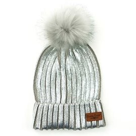 DM Merchandising Inc DM Merchandising Britt's Knits Glacier Knit Pom Hat Silver