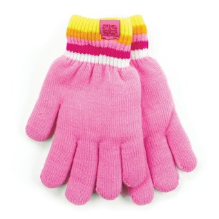 DM Merchandising Inc DM Merchandising Britt's Knits Kid's Play All Day Fuzzy-Lined Gloves Pink