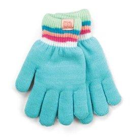 DM Merchandising Inc DM Merchandising Britt's Knits Kid's Play All Day Fuzzy-Lined Gloves Aqua