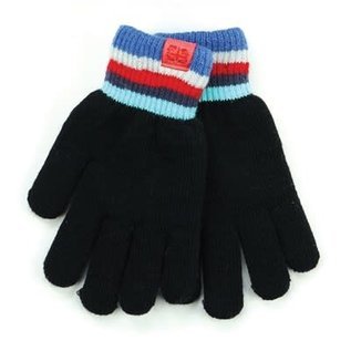 DM Merchandising Inc DM Merchandising Britt's Knits Kid's Play All Day Fuzzy-Lined Gloves Black