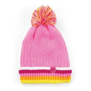 DM Merchandising Inc DM Merchandising Britt's Knits Kid's Play All Day Plush-Lined Pom Hat Pink