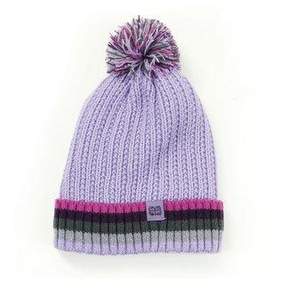 DM Merchandising Inc DM Merchandising Britt's Knits Kid's Play All Day Plush-Lined Pom Hat Lavender
