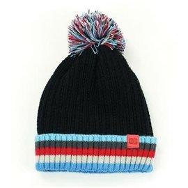 DM Merchandising Inc DM Merchandising Britt's Knits Kid's Play All Day Plush-Lined Pom Hat Black