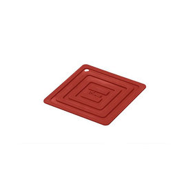 Lodge Cast Iron Lodge Silicone 6 inch Square Potholder Red