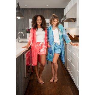 DM Merchandising Inc DM Merchandising Hello Mello Robe Dye's The Limit Aqua L/XL