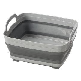 OGGI OGGI Silicone Collapsible Dish Tub with Drain Gray