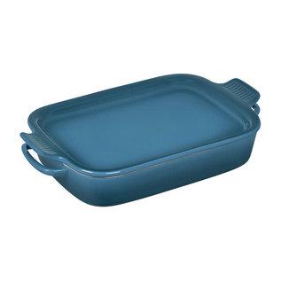Le Creuset Le Creuset Rectangular Dish with Platter Lid Deep Teal 14.75x9x2.5 inch 2.75 Qt