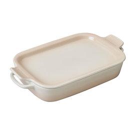 Le Creuset Le Creuset Rectangular Dish with Platter Lid Meringue 14.75x9x2.5 inch 2.75 Qt