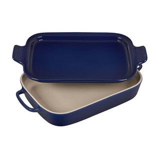 Le Creuset Le Creuset Rectangular Dish with Platter Lid Indigo 14.75x9x2.5 inch 2.75 Qt