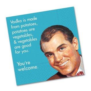 Design Design Vodka Is Made From Potatoes Napkin-Beverage