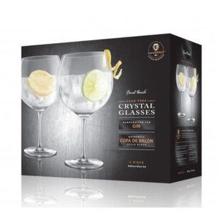 Final Touch Gin Lead-Free Crystal Glasses set of 2