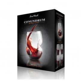 Final Touch Conundrum Red Wine Glasses set of 4