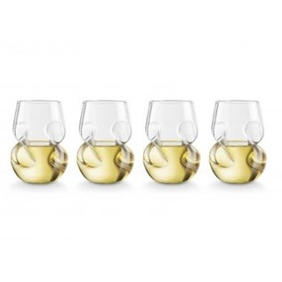 Final Touch Conundrum White Wine Glasses set of 4