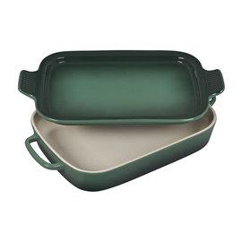 Le Creuset Le Creuset Rectangular Dish with Platter Lid Artichaut 14.75x9x2.5 inch 2.75 Qt