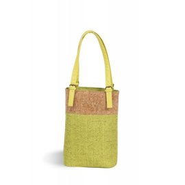 Oak & Olive (formerly Picnic Plus) Picnic Plus Double Bottle Wine Tote Celery CLOSEOUT