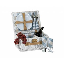 Oak & Olive (formerly Picnic Plus) Oak and Olive Boothbay 2 Person Picnic Basket White