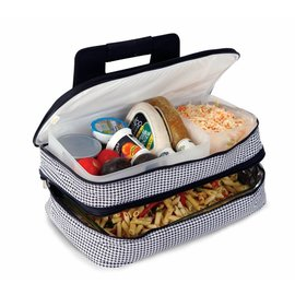 Oak & Olive (formerly Picnic Plus) Oak & Olive Entertainer Expandable Hot & Cold Food Carrier Houndstooth CLOSEOUT