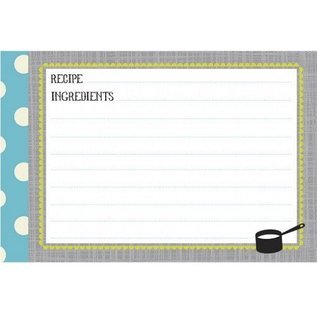 CR Gibson CR Gibson Kitchen Gear Recipe Cards 4x6