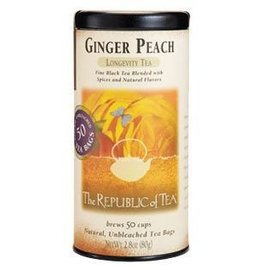 Republic of Tea The Republic of Tea Ginger Peach Black Tea Round Bags 50 Serving Tin