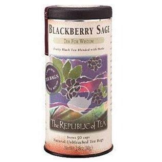 Republic of Tea The Republic of Tea Blackberry Sage Black Tea Round Bags 50 Serving Tin