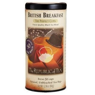 Republic of Tea The Republic of Tea British Breakfast Black Tea Round Bags 50 Serving Tin