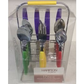 Hampton Forge Ltd Hampton Forge Hadley Multi-color 17 pc Flatware Set CLOSEOUT