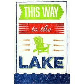 MUkitchen MuKitchen Cotton Dish Towel To the Lake CLOSEOUT