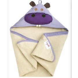 3 Sprouts 3 Sprouts Hooded Towel Hippo CLOSEOUT