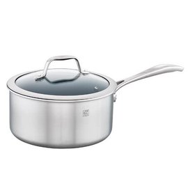 Zwilling J.A. Henckels ZWILLING Spirit 3-ply Stainless Steel Ceramic Nonstick Saucepan 3 Qt with Lid