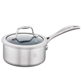Zwilling J.A. Henckels ZWILLING Spirit 3-ply Stainless Steel Ceramic Nonstick 1qt Saucepan